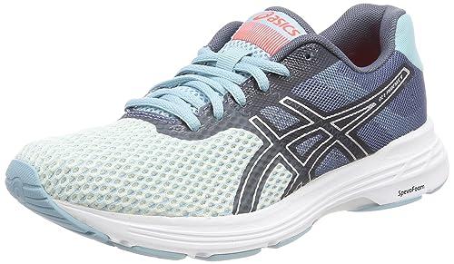 5bc24af80bbf ASICS Women s Gel-Phoenix 9 Running Shoes Blue (Porcelain Blue Silver Flash