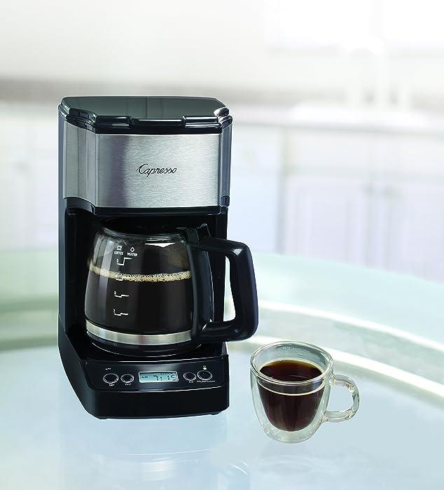 Capresso 426.05 5-Cup Drip Mini Coffeemaker Black/Silver