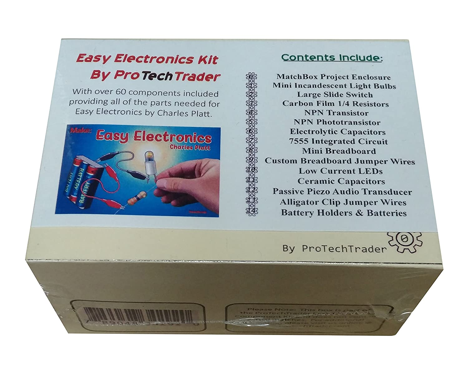 ProTechTrader Make Easy Electronics Component Pack Lean Basic Electronics with no Tools for Easy Electronics by Charles Platt Book Sold Separately