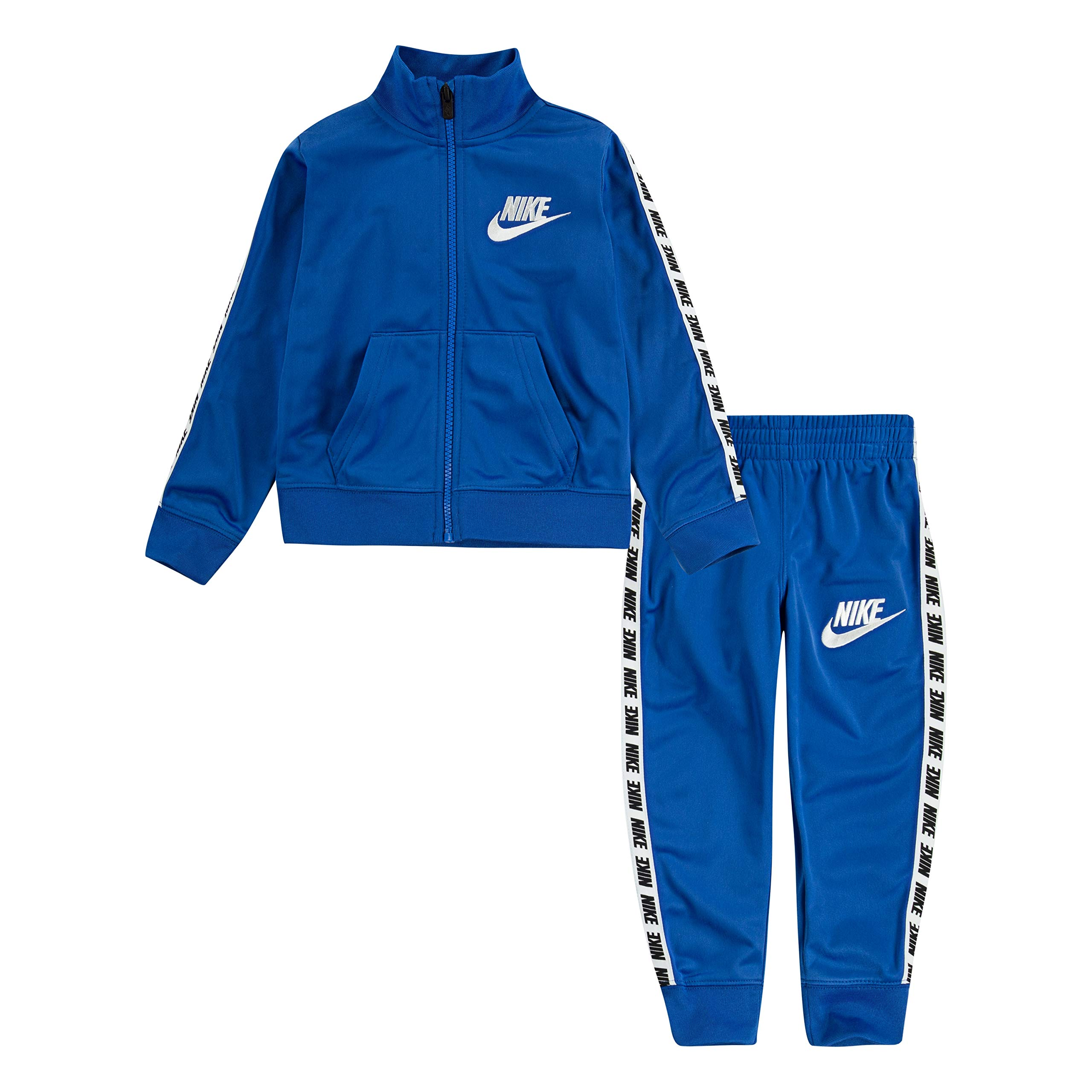 Nike Baby Boys' Little Tricot Track Suit 2-Piece Outfit Set, Game Royal, 5