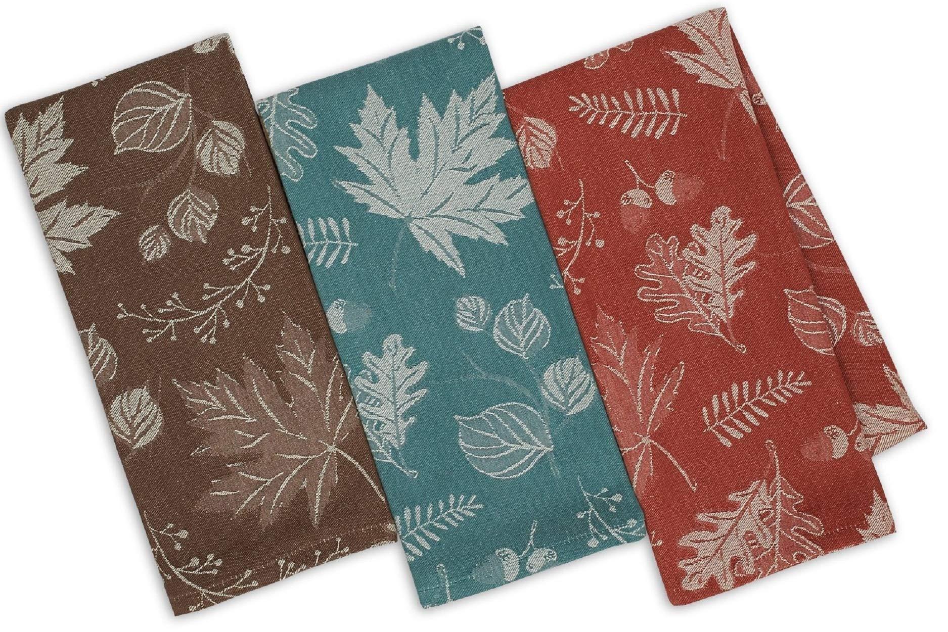 Design Imports Fall Foilage Jacquard Dishtowels (Set of 3)