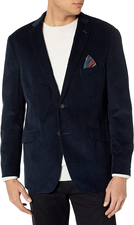U.S. Polo Assn. Men's Corduroy Casual Sport Coat Jacket, L