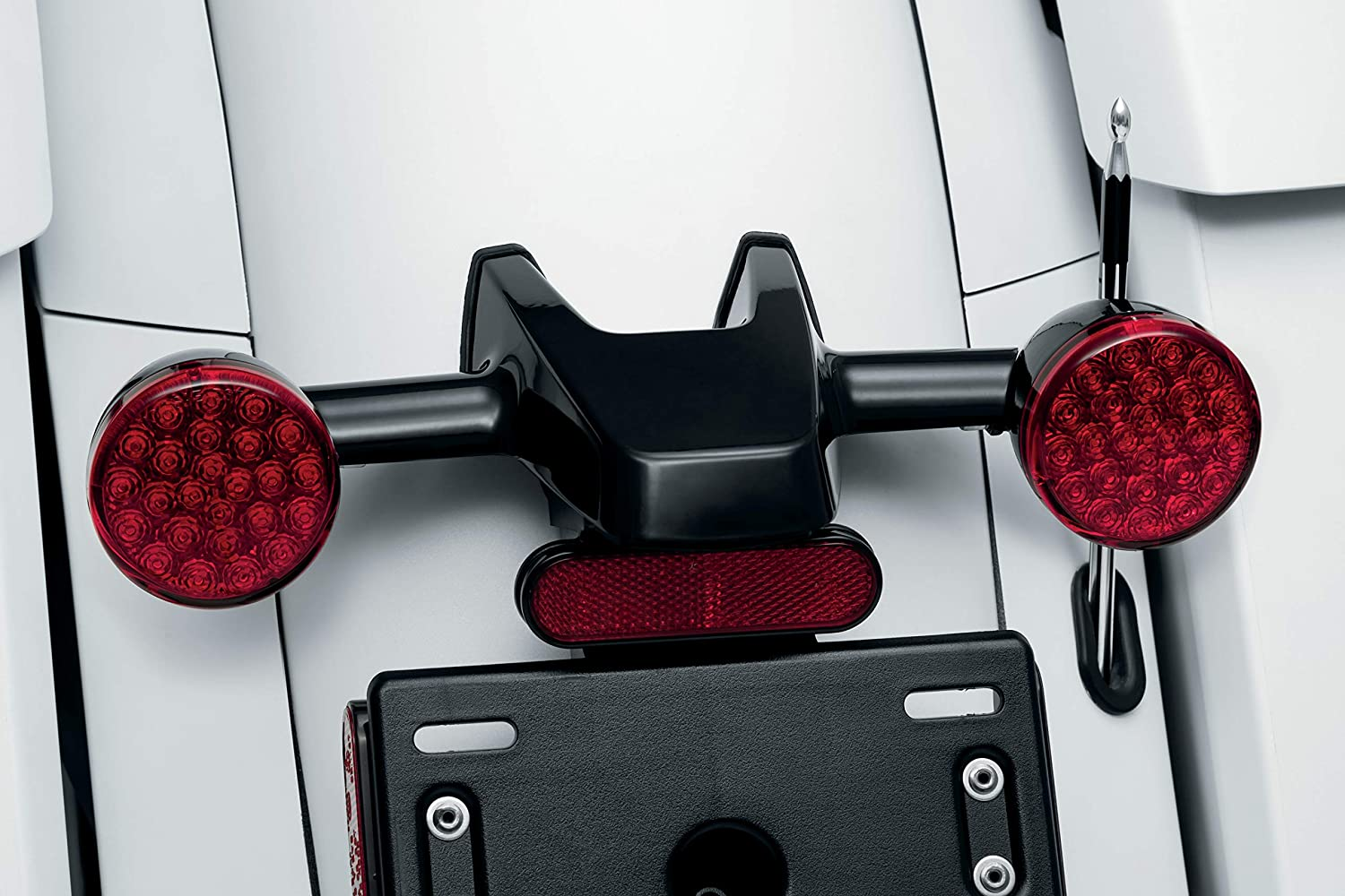 1 Pair Kellermann Atto Rear Turn Signal Adapters for Indian Motorcycles Challenger and Chieftain Gloss Black Kuryakyn 2843 Motorcycle Lighting Accessory