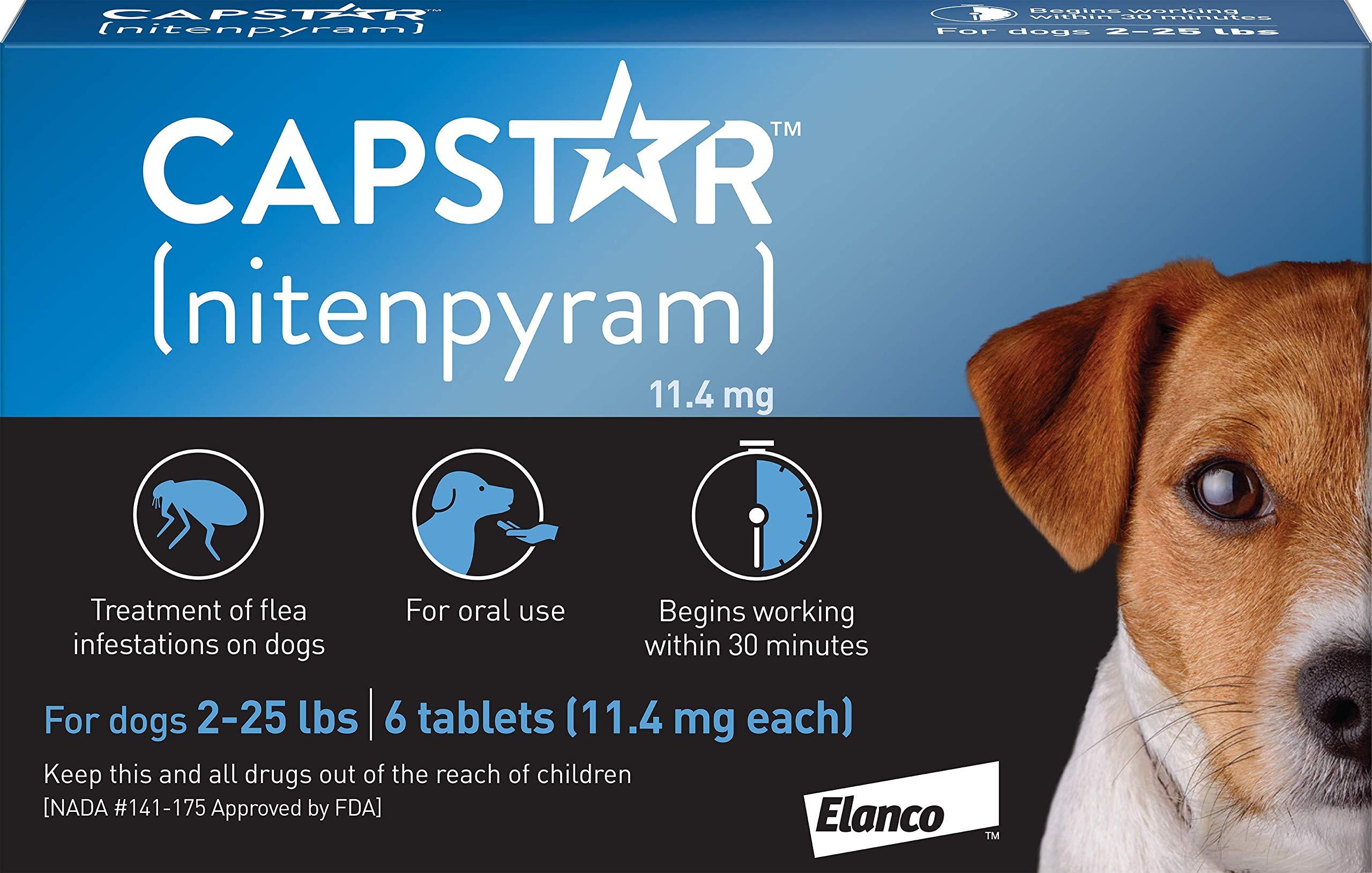 Elanco Animal Health Capstar Fast-Acting Oral Flea Treatment for Small Dogs, 6 Doses, 57 mg (2-25 lbs) by Elanco Animal Health