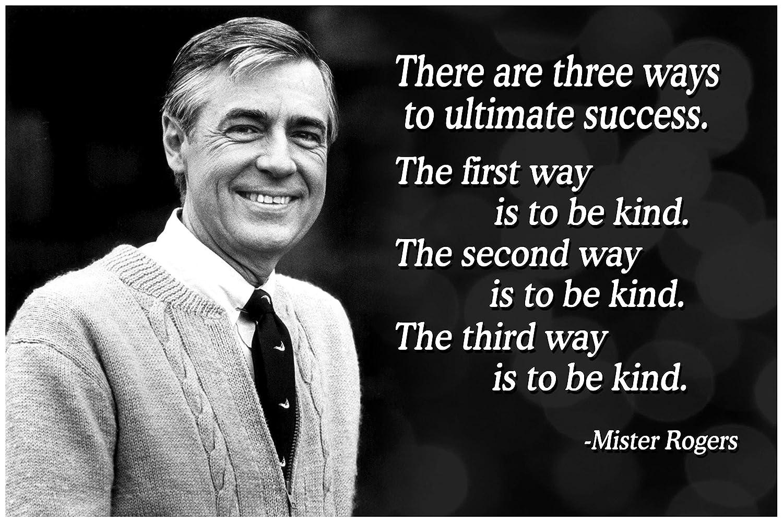 Mr Rogers Neighborhood Quote Poster Growth Mindset Decor Teaching Kids  Kindness P017