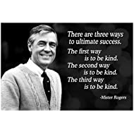 Vincit Veritas 13X19 Mr Rogers Neighborhood Quote Poster Growth Mindset Decor Teaching Kids Kindness