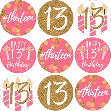 Amazon.com: Las niñas 13th Fiesta de cumpleaños Favor ...