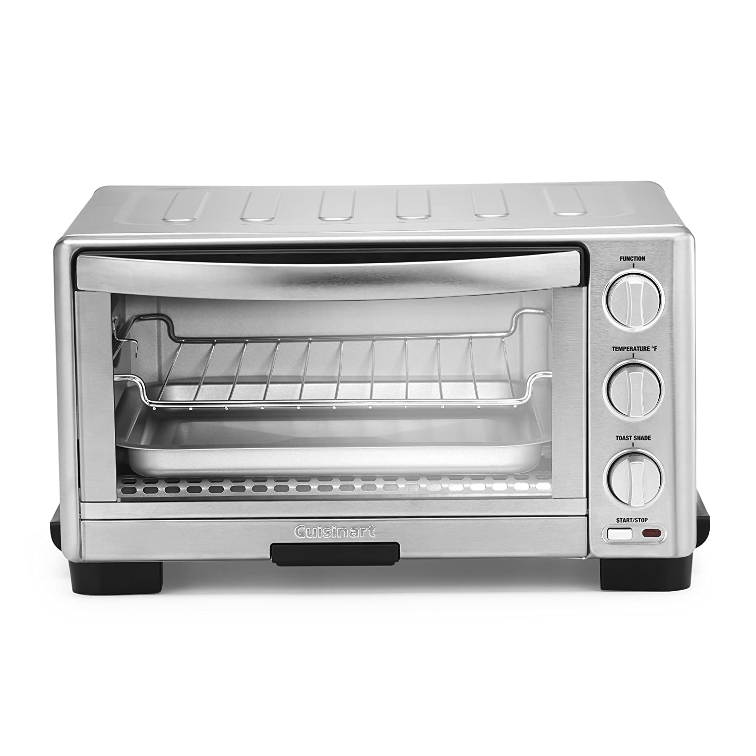"Cuisinart TOB-1010 Toaster Oven Broiler 14"" x 15.75"" x 14"" Silver"