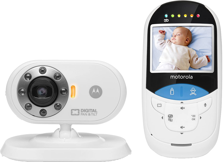 Motorola Babyphone Vidéo avec écran 2, 4 et thermomètre infrarouge intégré - MBP27T - Blanc/Noir MBP 27T