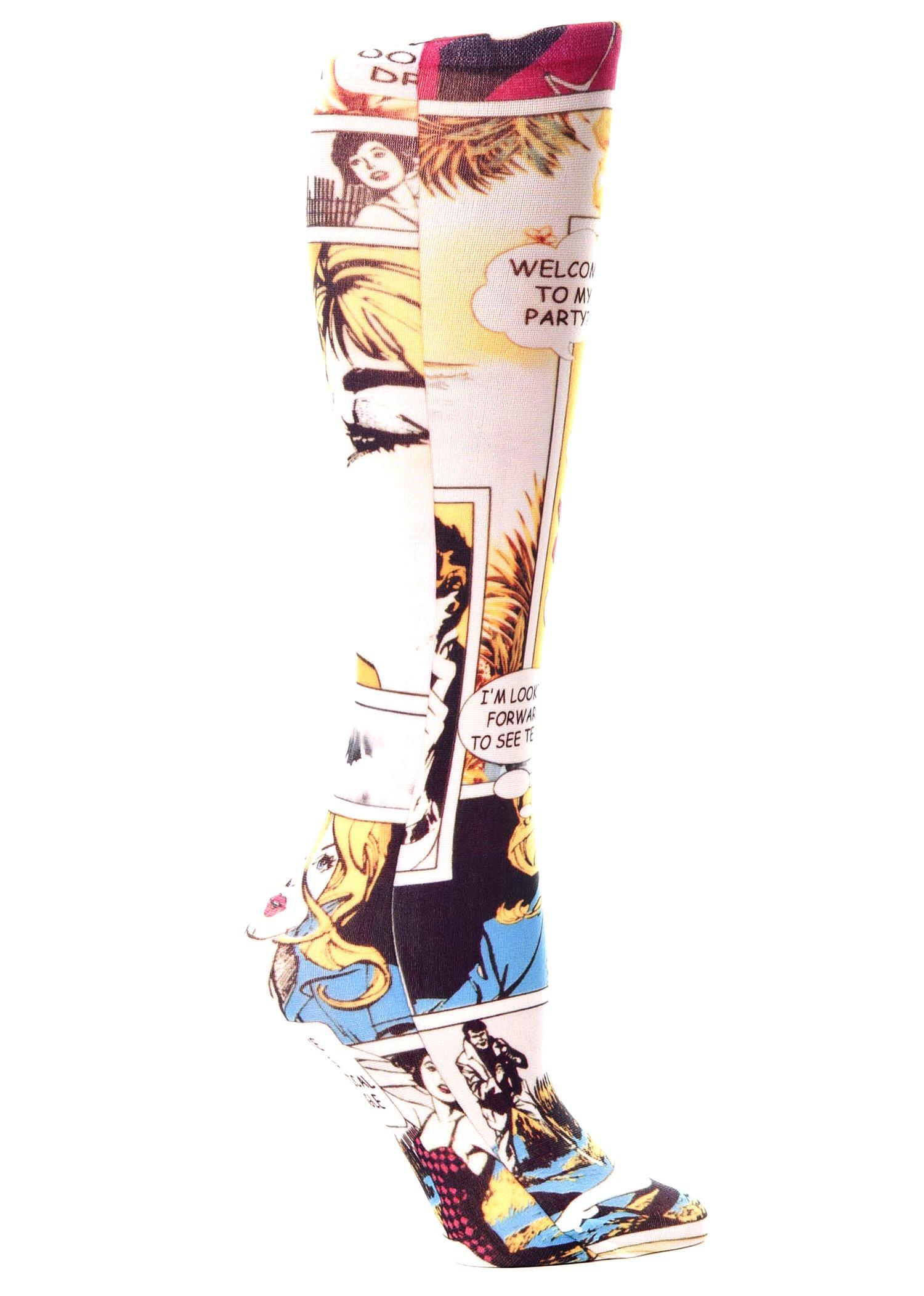 Celeste Stein Therapeutic Compression Socks, Comic, 8-15 mmhg, .6 Ounce