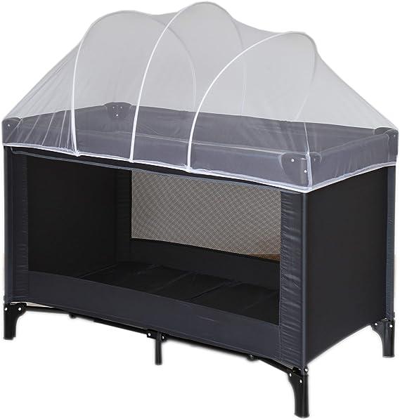 Nattou Moustiquaire pour lit parapluie, Protection contre les moustiques, 100 % polyester, 120 x 60 x 35 cm, Blanc