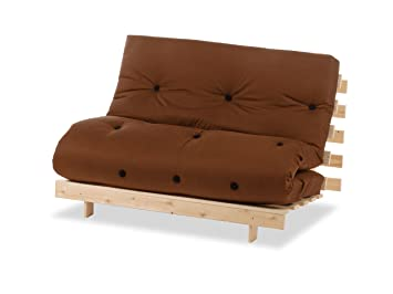 Humza Amani Wood Luxury 2 Seater Metro Futon Sofa Bed Frame with