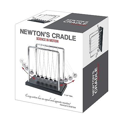 Black Wooden Base PowerTRC/® Newtons Cradle Balance Balls 7 1//4