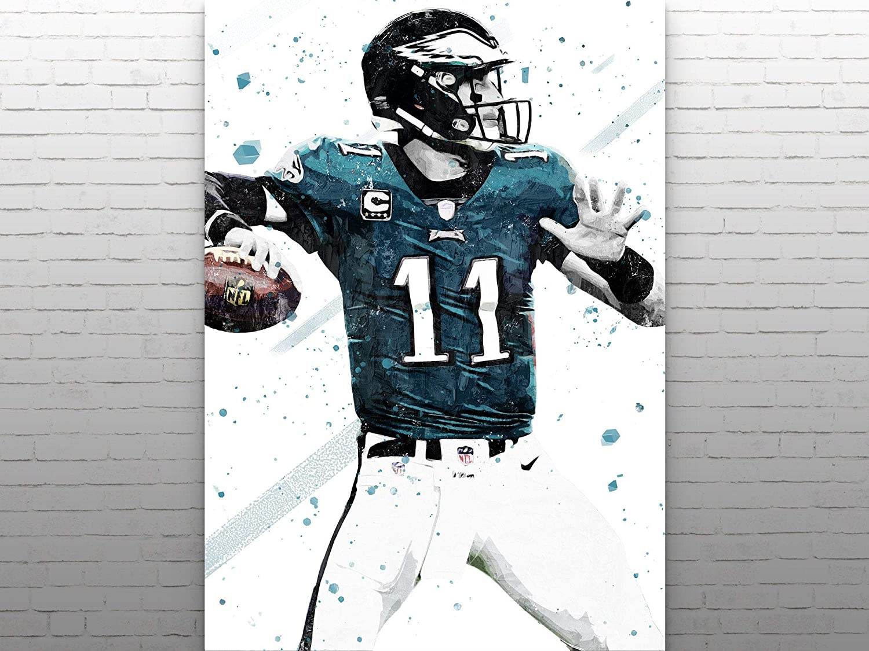 Amazon Com Carson Wentz Print Carson Wentz Poster Philadelphia Eagles Poster American Football Print Football Wall Art American Football Poster Nfl Decor Handmade