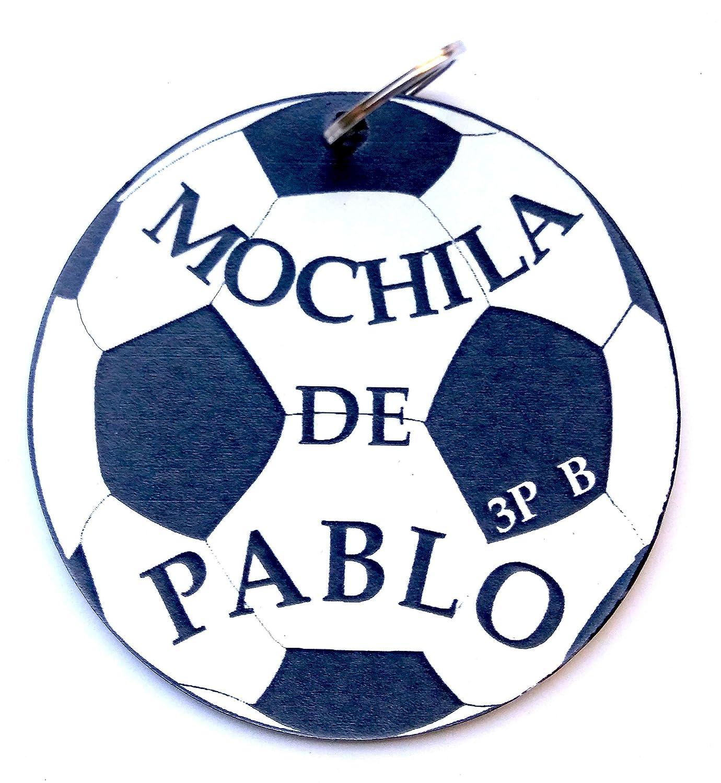 LLavero personalizado MOCHILA, Balón de futbol: Amazon.es: Handmade