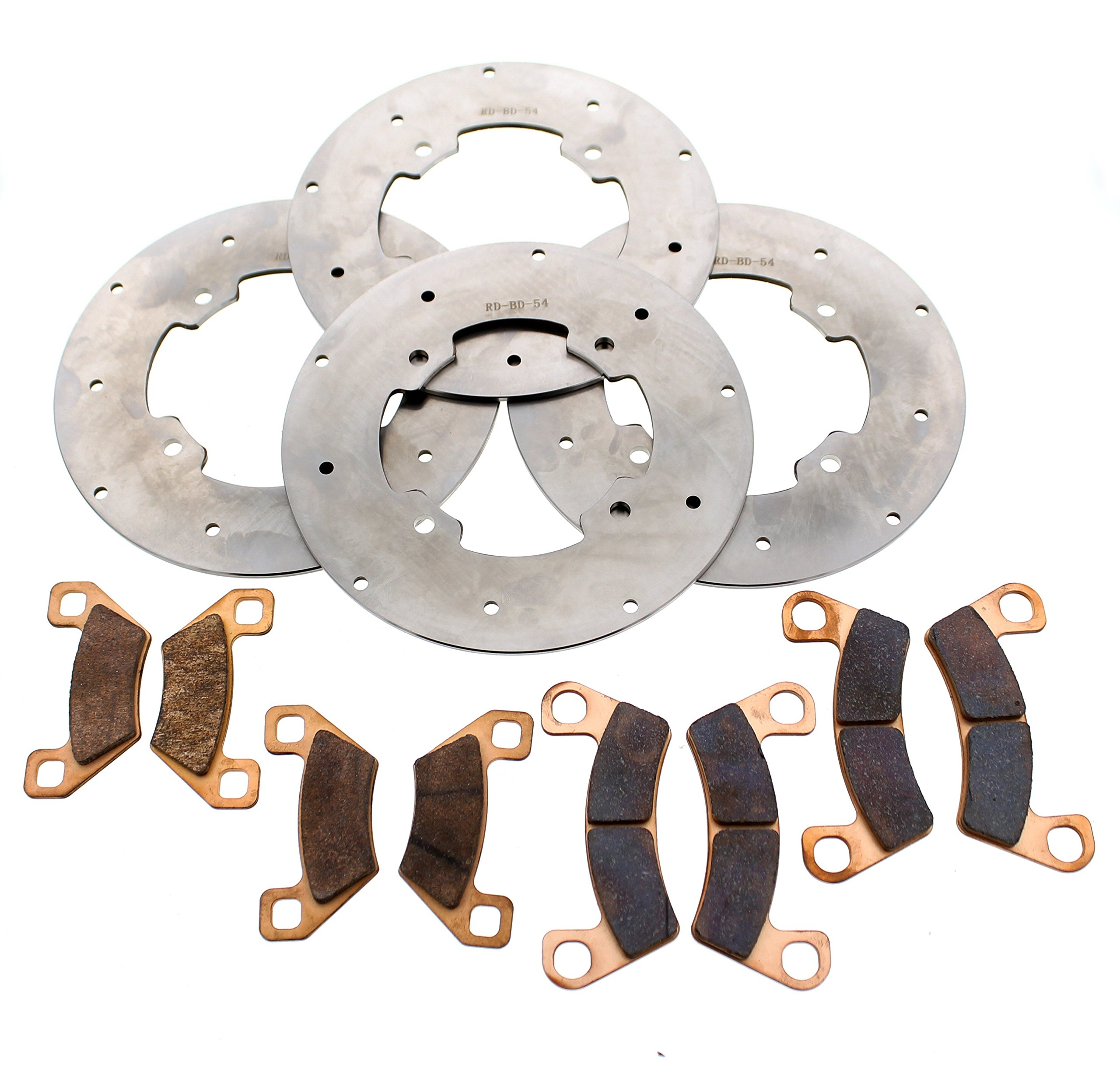 2015-17 Arctic Cat Wildcat Sport 700 LTD EPS Front & Rear Brake Rotors & Pads by Race-Driven