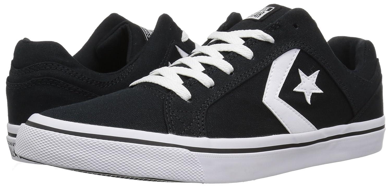Converse Women's El Distrito Canvas Low Top Sneaker B074PBWLYJ 5.5 M US|Black/White/Black