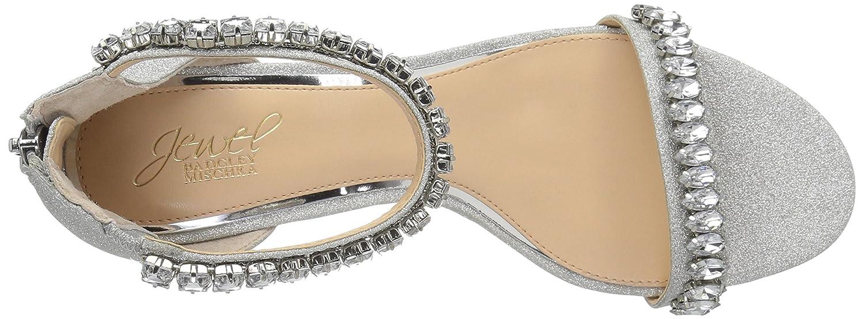Jewel Badgley Mischka Womens MEL Sandal silver glitter M065 M US