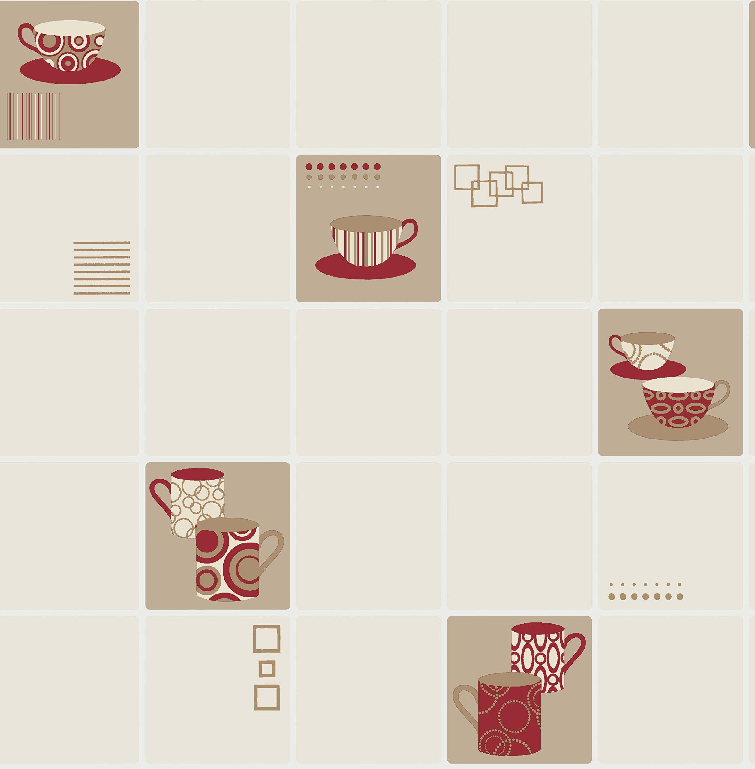 Red Kitchen Wallpaper: Amazon.co.uk