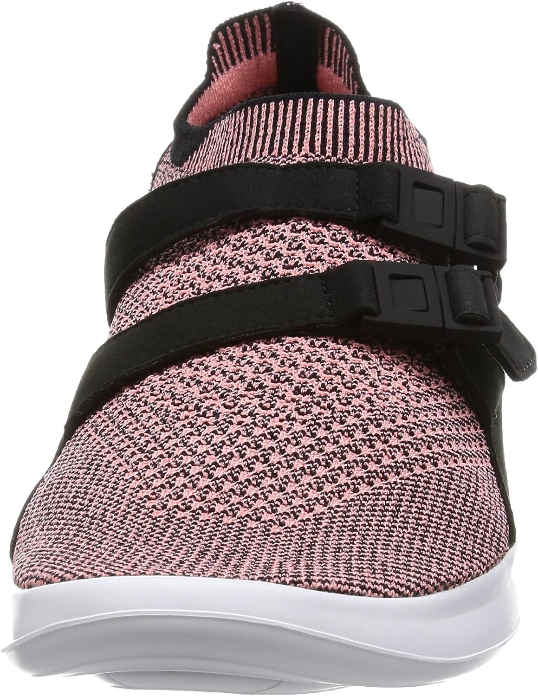 Nike Men's Air Sockracer Flyknit Running Shoe Black/Bright Melon-black-white
