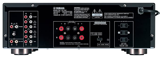 Amazon.com: Yamaha ax-497 100 W Sonido Natural estéreo ...