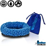 """For Hatchimals - EggHead Bed Nest Nesting 6.5"""" Fleece Egg Holder Accessories- For Use With All Hatchimals Eggs - Blue"""
