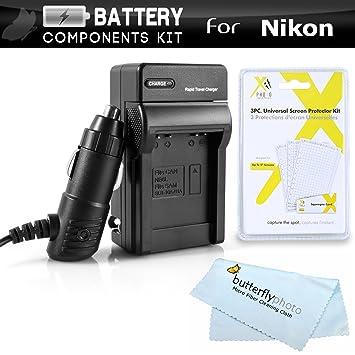 Amazon.com: Kit de Cargador de batería para Nikon Df, D5500 ...