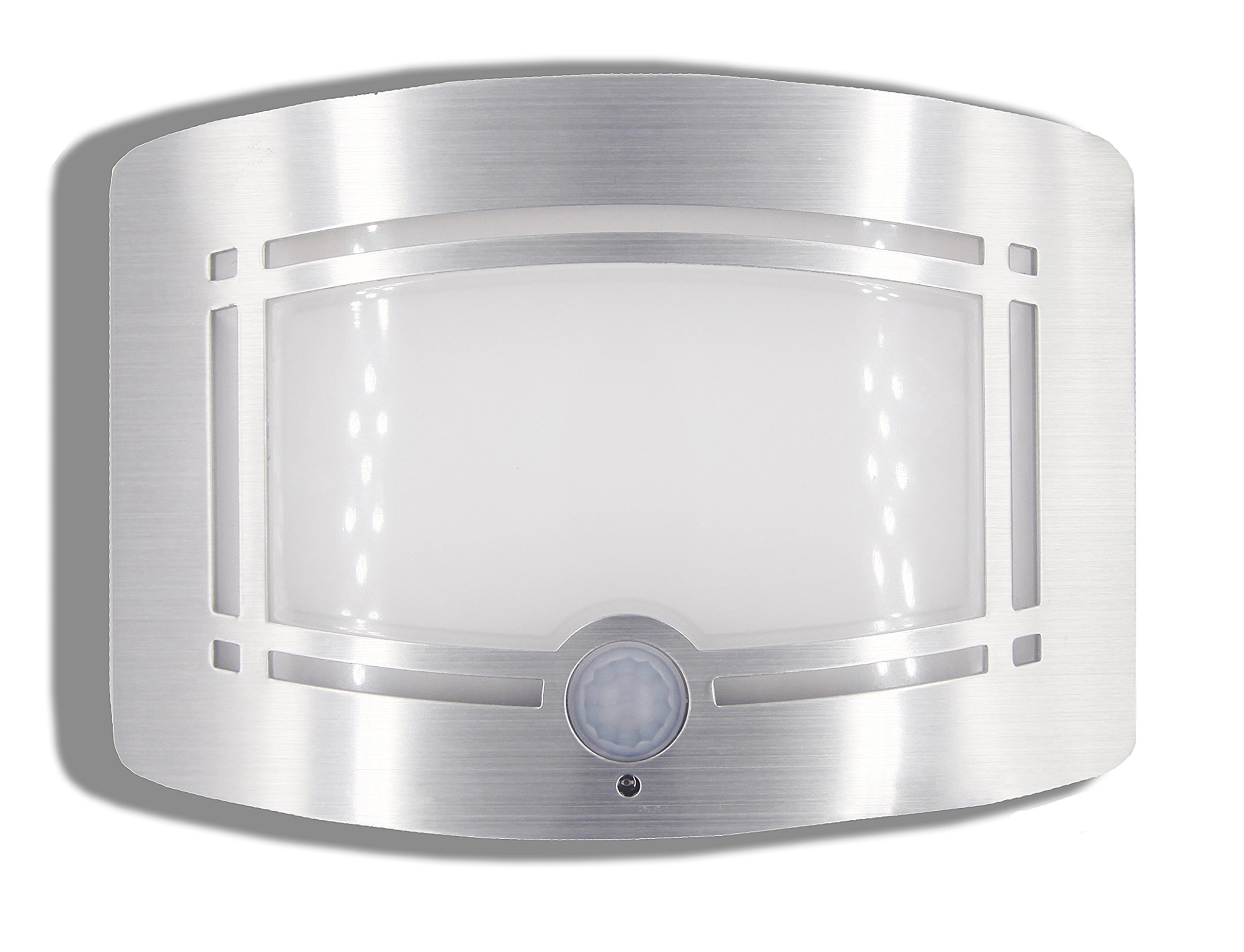 Motion Sensor Auto LED Night Light - Soft Warm White Wireless Wall Sconce Light Controlled by Motion Activated Sensing & Light Sensor - Stick on Anywhere Wireless Battery Powered (Not included) by WISLIGHT (Image #1)