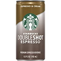 Starbucks Doubleshot, Espresso + Cream, 6.5 Fluid Ounce, Pack of 12