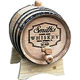 Personalized Whiskey Barrel - Engraved Wine Barrel - Custom Oak 2 Liter Barrel - Barrel Aged Design