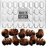 Crystalia Molde especial de policarbonato 3D para chocolate, diseño de fantasma de calabaza y murciélago para hacer dulces de