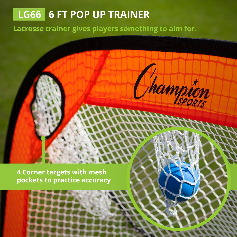 amazon com champion sports lacrosse training goal pop up