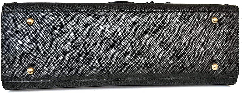 avant-bras ou bandouli/ère LIVAN Simili cuir rigide stri/é Femme Port/é main Format A4+ support/é Sac /à Main//de Cours//Lyc/éenne//Etudiante