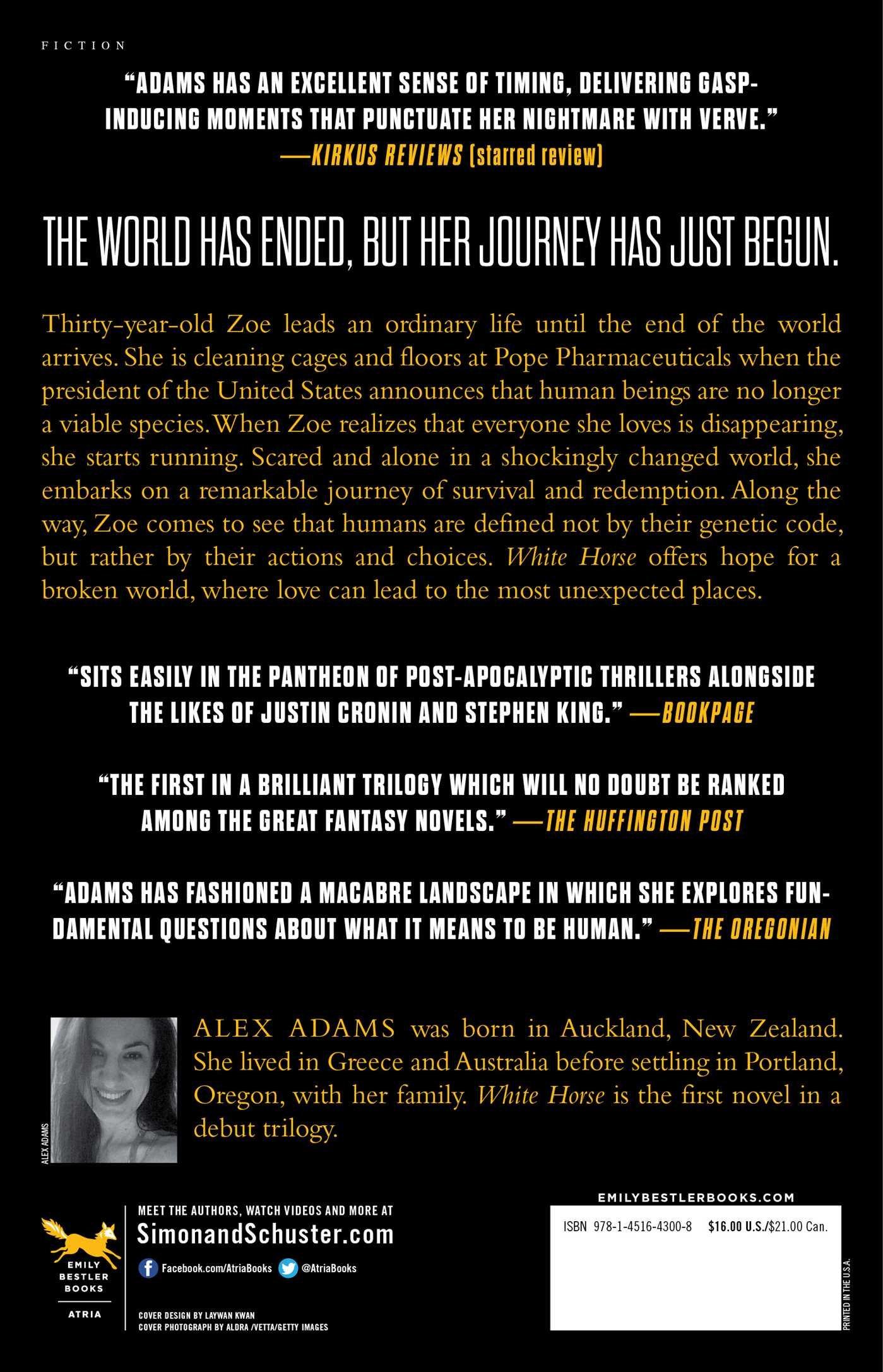 White Horse A Novel Alex Adams Amazon Books