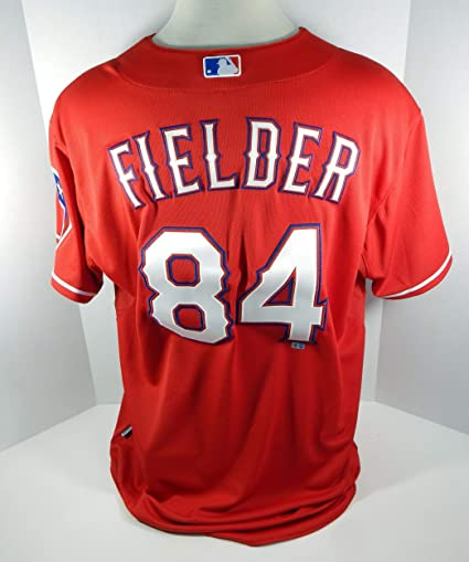 quality design a8057 205af 2015 Texas Rangers Prince Fielder #84 Game Issued Red Jersey ...