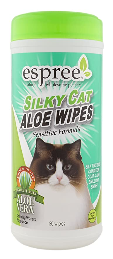 Espree Silky Cat Aloe Wipes, 50 count