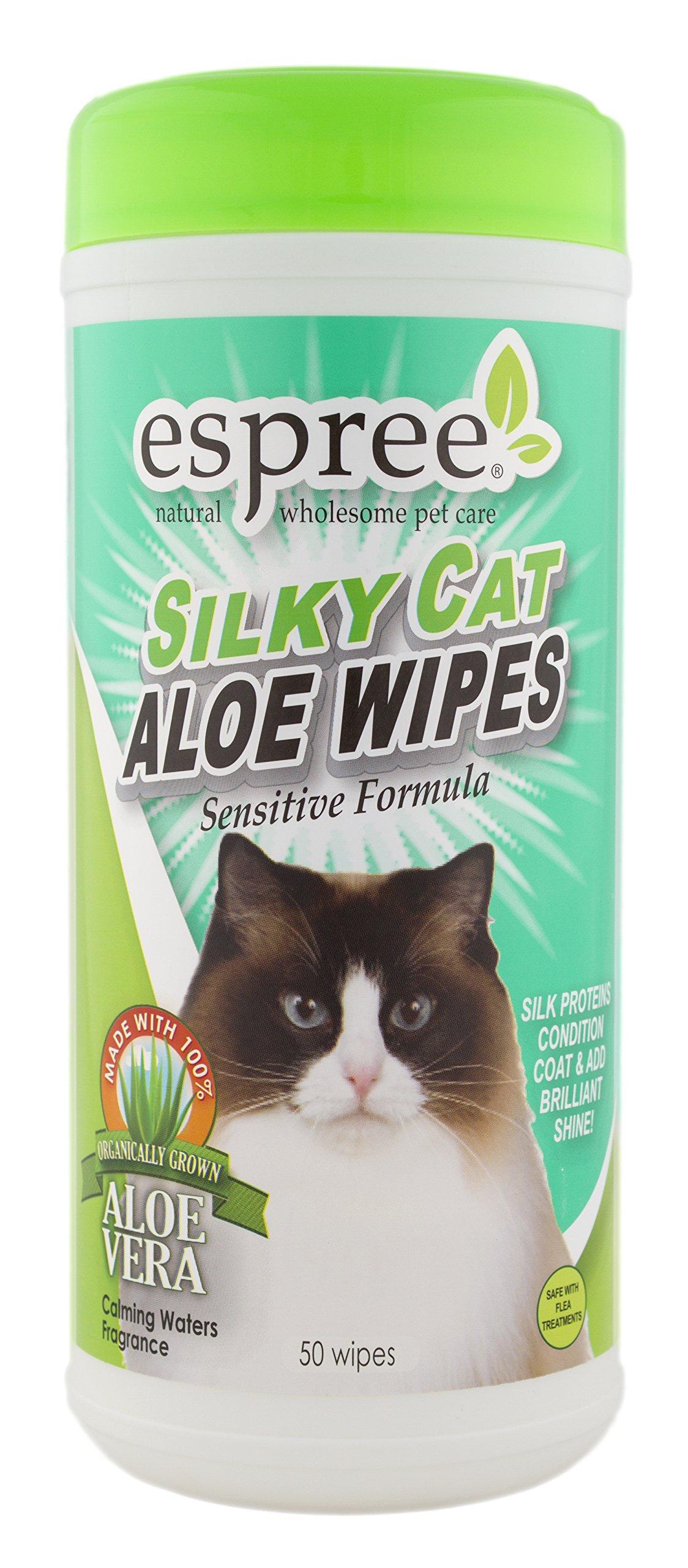 : Amazon.com: Espree Silky Cat Aloe Wipes, 50 count