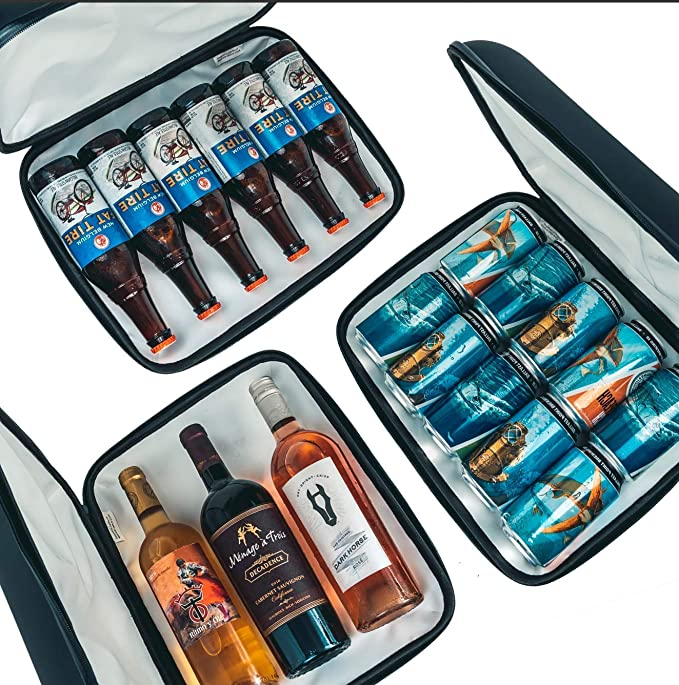 Small Wine Beer Portable Cooler. 5+ Hours Cold Drinks