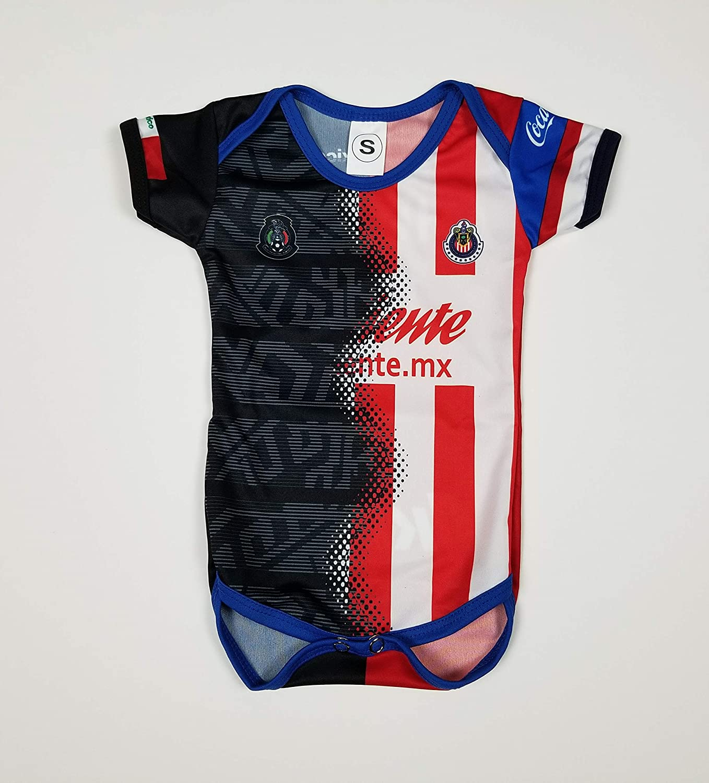 Soccer Mexico Chivas Del Guadalajara Baby Jersey Baby Jumpsuit Bodysuit Futbol Liga MX
