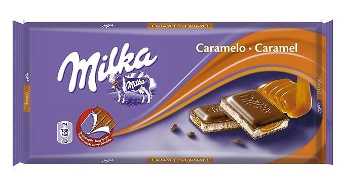 Milka - Tableta De Chocolate Leche Con Caramelo, 100 g