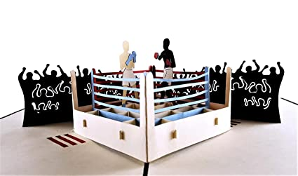 Amazon igifts and cards boxing 3d pop up greeting card igifts and cards boxing 3d pop up greeting card sports black fight m4hsunfo