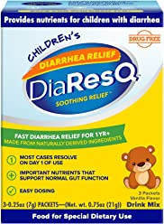 DiaResQ Children's Soothing Diarrhea Relief - (Vanilla, 3 ct) Fast-Acting Diarrhea Relief that is Safe, Drug-Free, and Effective in Relieving Diarrhea for Children 1 Yr. and Older