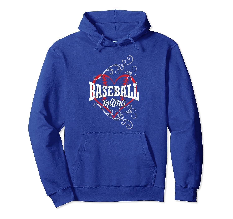 Baseball Mama pullover hoodie shirts for mom heart shape-TH