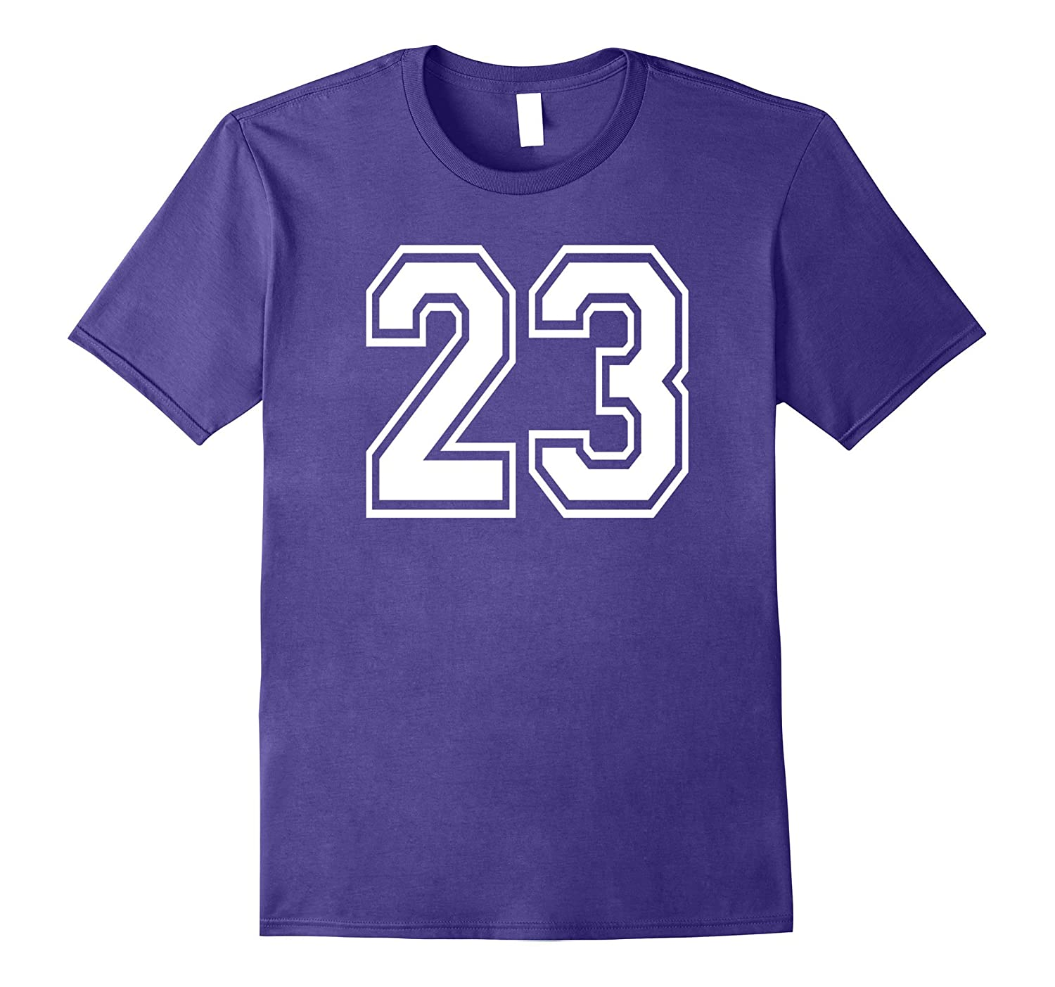 #23 Numbered College Sports Team T-Shirts front and back-Art