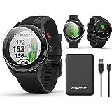 Garmin Approach S62 (Black) Premium Golf GPS Watch Bundle | +PlayBetter Portable Charger (Large) & HD Screen Protectors | Vir