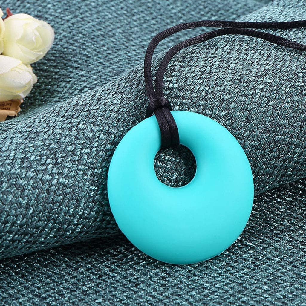 Elviray Silicone Chewing Necklace Teether Toys ADHD SPD Autism /& Oral Motor Special Needs Children Massage Dots Textured Chewy Stick