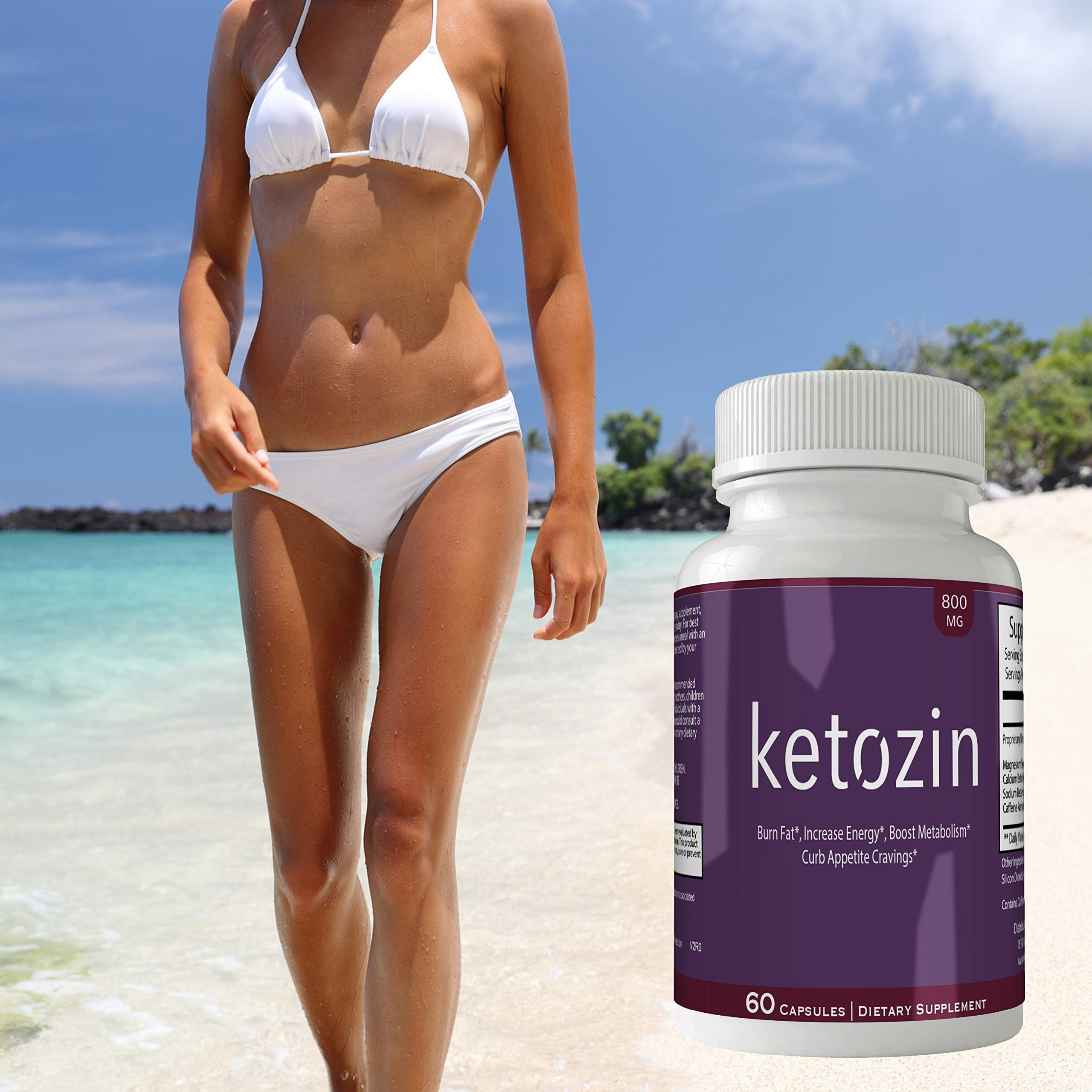 Ketozin Weight Loss Pills Advance Weight Loss Supplement Appetite Suppressant Natural Ketogenic 800 mg Formula with BHB Salts Ketone Diet Capsules to Boost Metabolism, Energy and Focus by nutra4health LLC (Image #5)