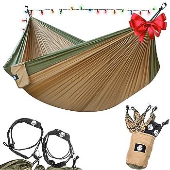 Legit Camping - Double Hammock - Lightweight Parachute Portable Hammocks