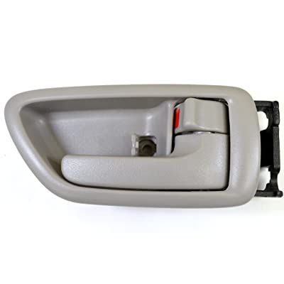 PT Auto Warehouse TO-2901G-RS - Inside Interior Inner Door Handle/Trim, Gray (Charcoal)- Crew Cabs, Passenger Side: Automotive