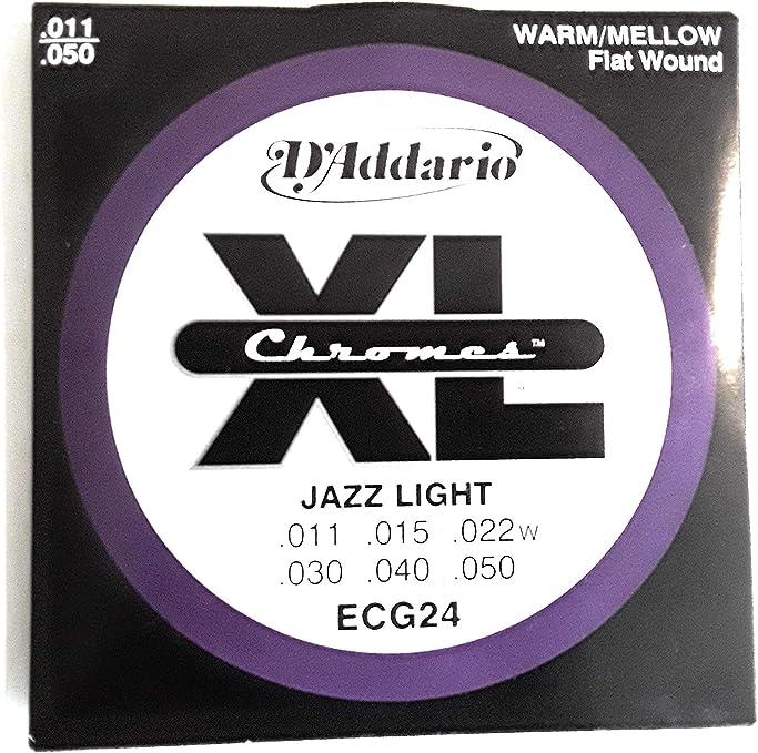 DAddario ECG24 XL Chromes cuerdas de entorchado plano 11-50 ...
